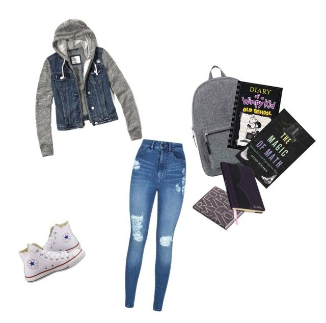 """""""County school day"""" by dj2000noname ❤ liked on Polyvore featuring interior, interiors, interior design, home, home decor, interior decorating, Abercrombie & Fitch, Lipsy, Converse and Herschel Supply Co."""