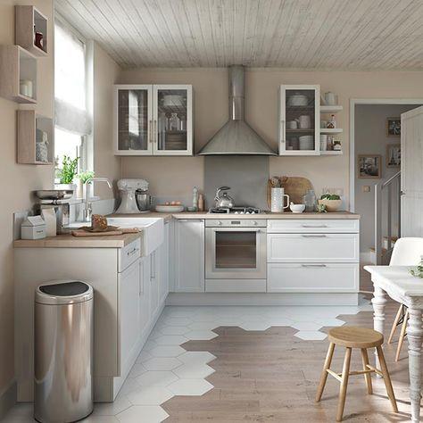 cuisine blanche fog cooke lewis castorama kitchen. Black Bedroom Furniture Sets. Home Design Ideas