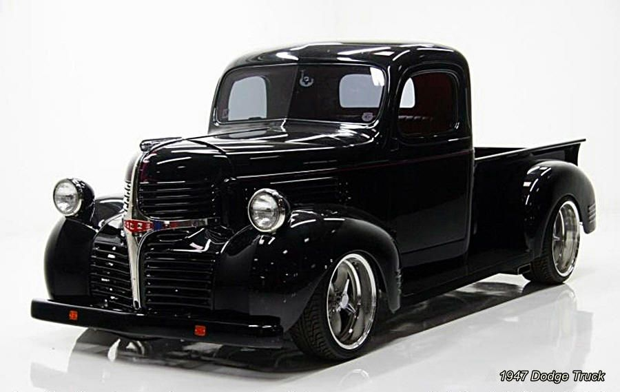 Cool, but could use some bigger rubber all around!! 40s dodge truck