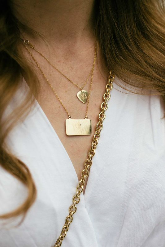 Three Jane map necklace.