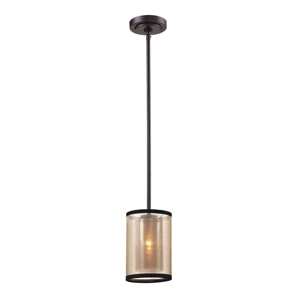 An Lighting Hearthstone Collection 1 Light Oil Rubbed Bronze Pendant Tn 39182 The Home Depot