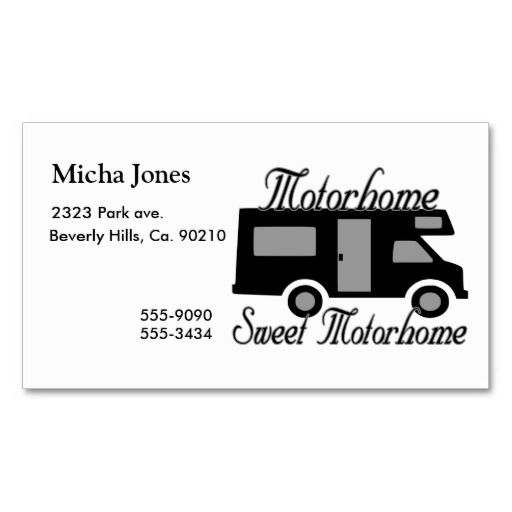 Motorhome sweet motorhome rv business card rv business cards and motorhome sweet motorhome rv business card colourmoves