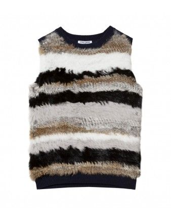 Opening Ceremony Stripe Rabbit Vest - Shop ways to take your boho look from summer to fall: http://shop.harpersbazaar.com/new-arrivals/trending-now