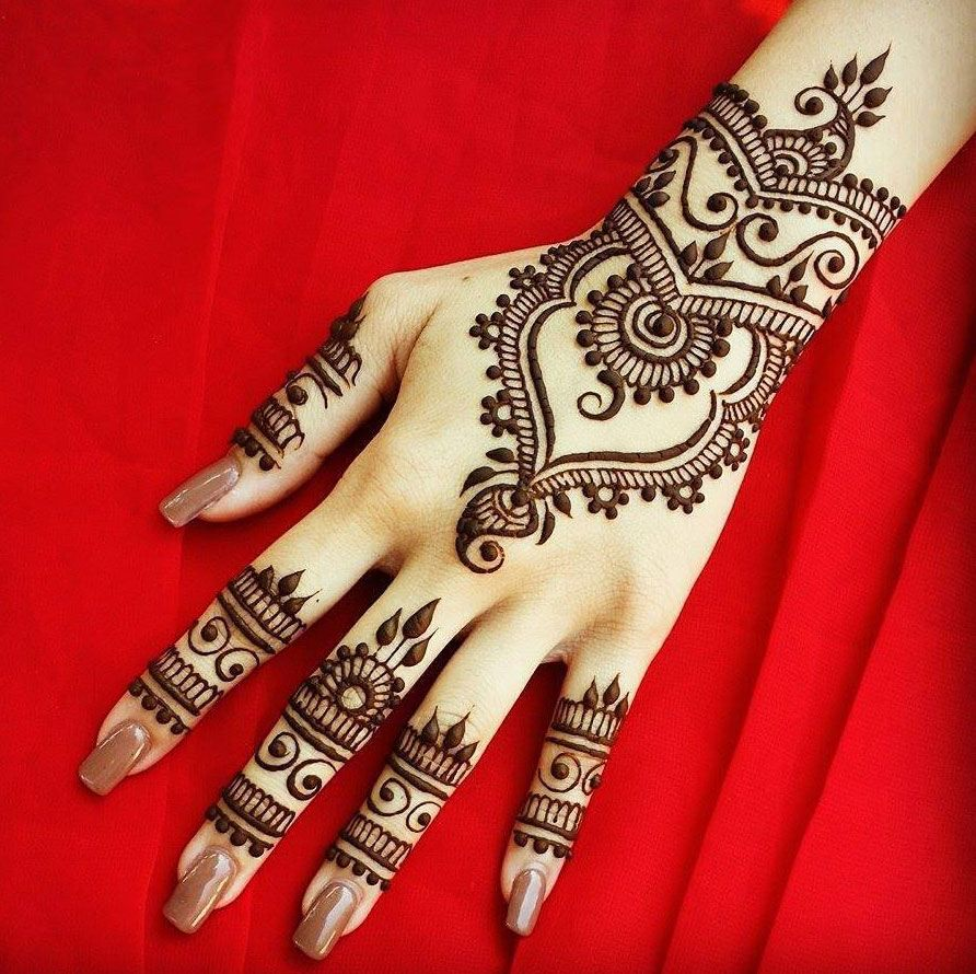Simple and Latest Collection of Arabic Mehandi Designs for this year ...