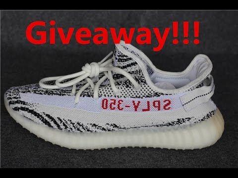 Free Giveaway Yeezy 350 V2 Zebra  882c7dd8c