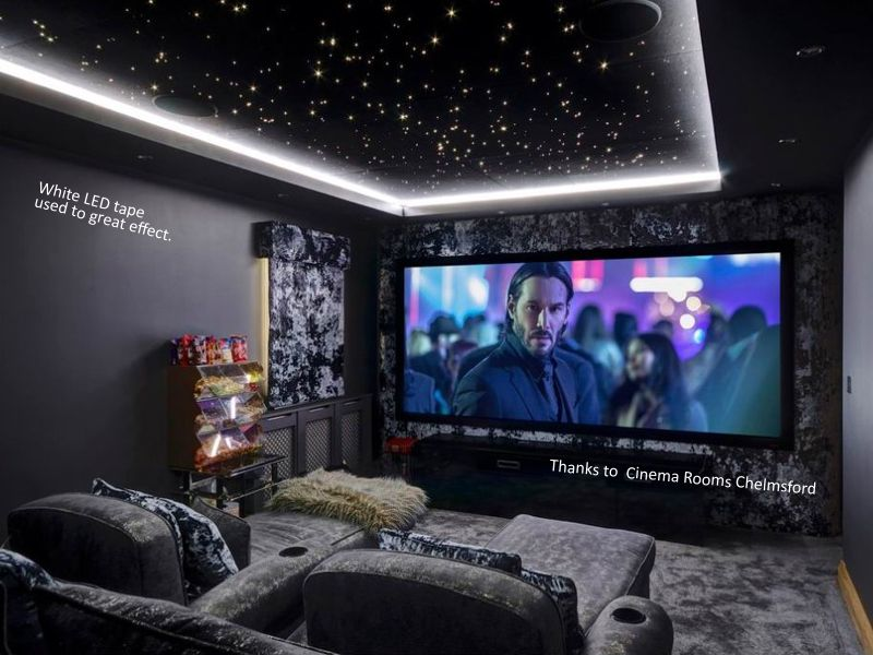 Corona star ceiling with colour changing LED tape. | Home ...