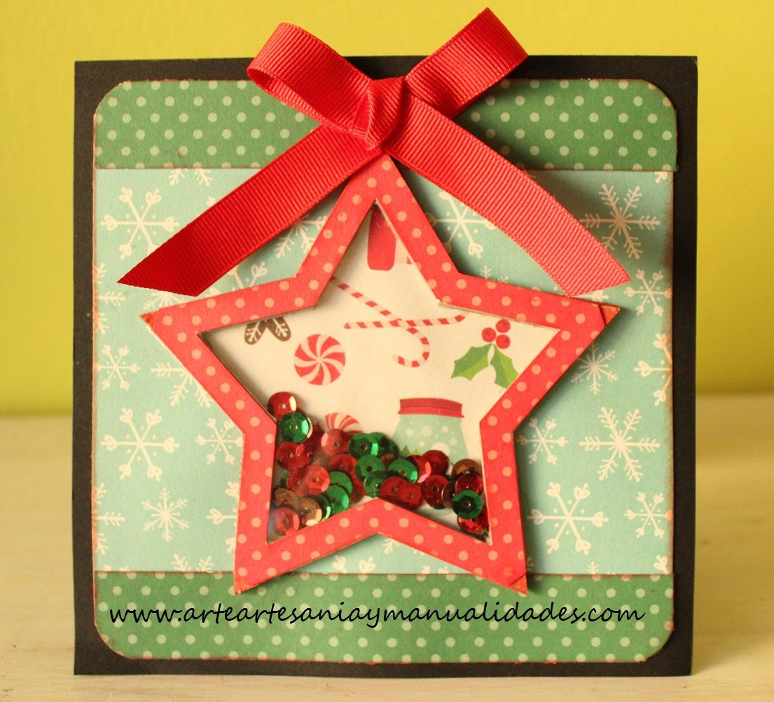 Arte Artesania y Manualidades Tarjetas Navidad Scrapbooking