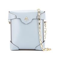 Mini estuche de cuero Manu Atelier 'Pristine' – Azul | iLovee