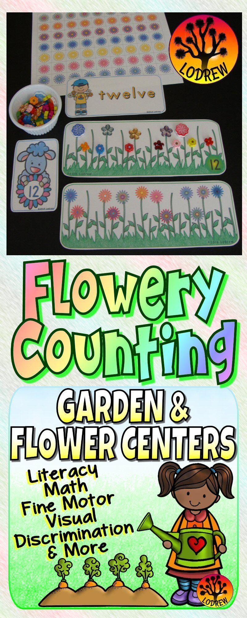 Garden Centers Spring Activities Flowers Literacy Math