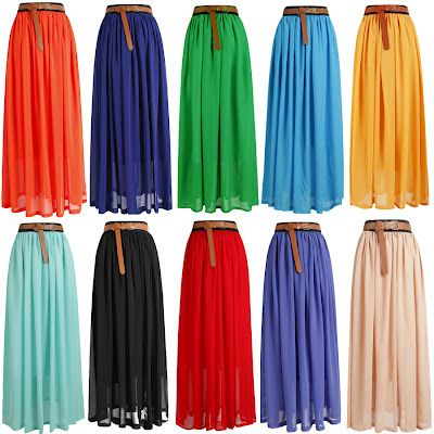 32e22bfe3 $11 Maxi Skirts, that's the mass produced price. I wonder how much it would  cost to make one myself?