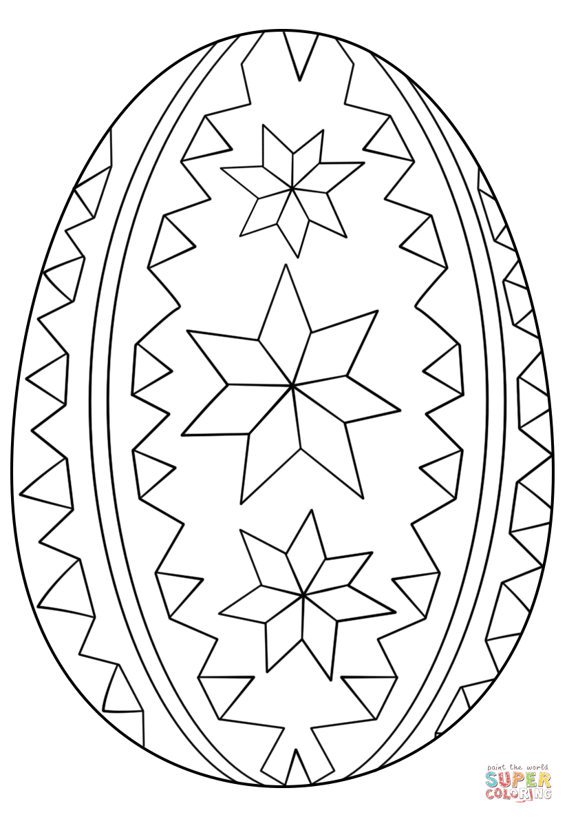 Coloring Ukrainian Easter Eggs Keyid Free Printable Page For Kids