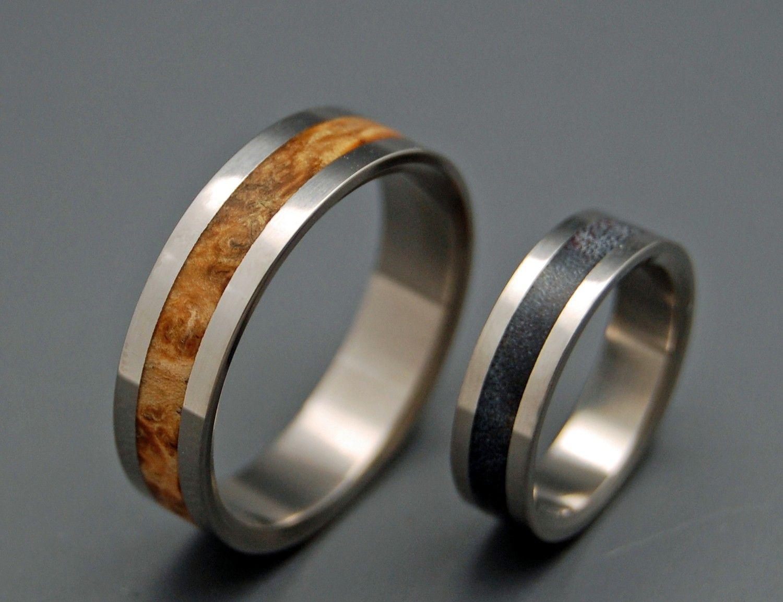 Solstice - Wooden Wedding Rings. $440.00, via Etsy.