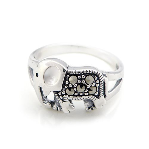 silver cute baby elephant ring silver Thai ring female ring rings silver jewelry from ClothLess · Storenvy