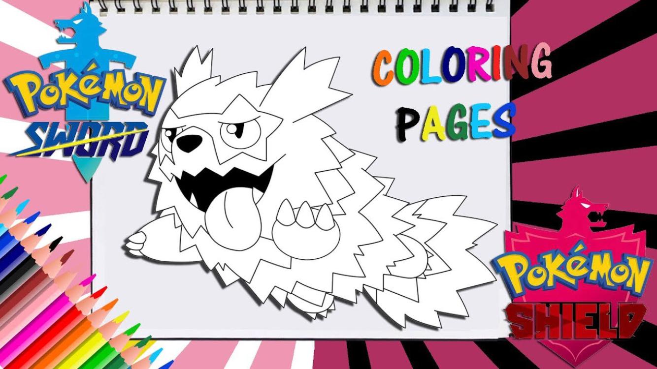 Pokemon Sword And Shield Zigzagoon Coloring Page Pokemon Coloring Pages Coloring Books