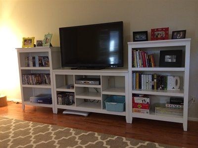 DIY bookshelf tv stand house projects Pinterest – Tv Stand Bookcase