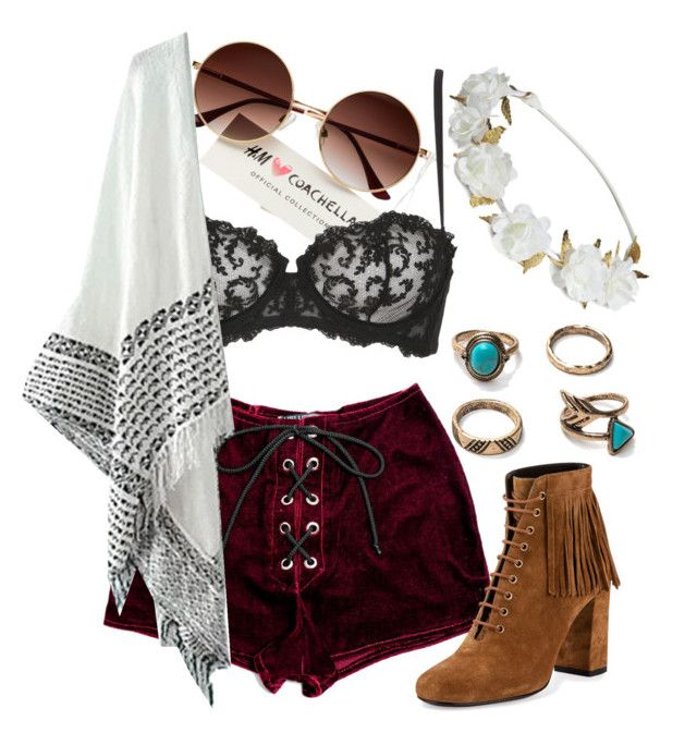 """hodgepodge Coachella #8"" by sammi-mo on Polyvore featuring La Perla and Yves Saint Laurent"