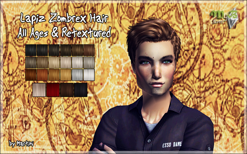 Lapiz Zombrex Hair All Ages Retextured The Sims 1 2 3 4