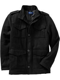 Men's Wool-blend Military Style Jackets | Old Navy