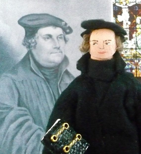 Martin Luther Doll Miniature Historical Art Collectible