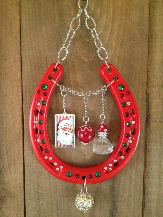 LUCKY HORSESHOE Christmas gift red wall decor good by LuckAdorned