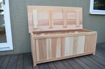 Cedar Deck Storage Box Eclectic And Organization Outdoor Furniture Plus