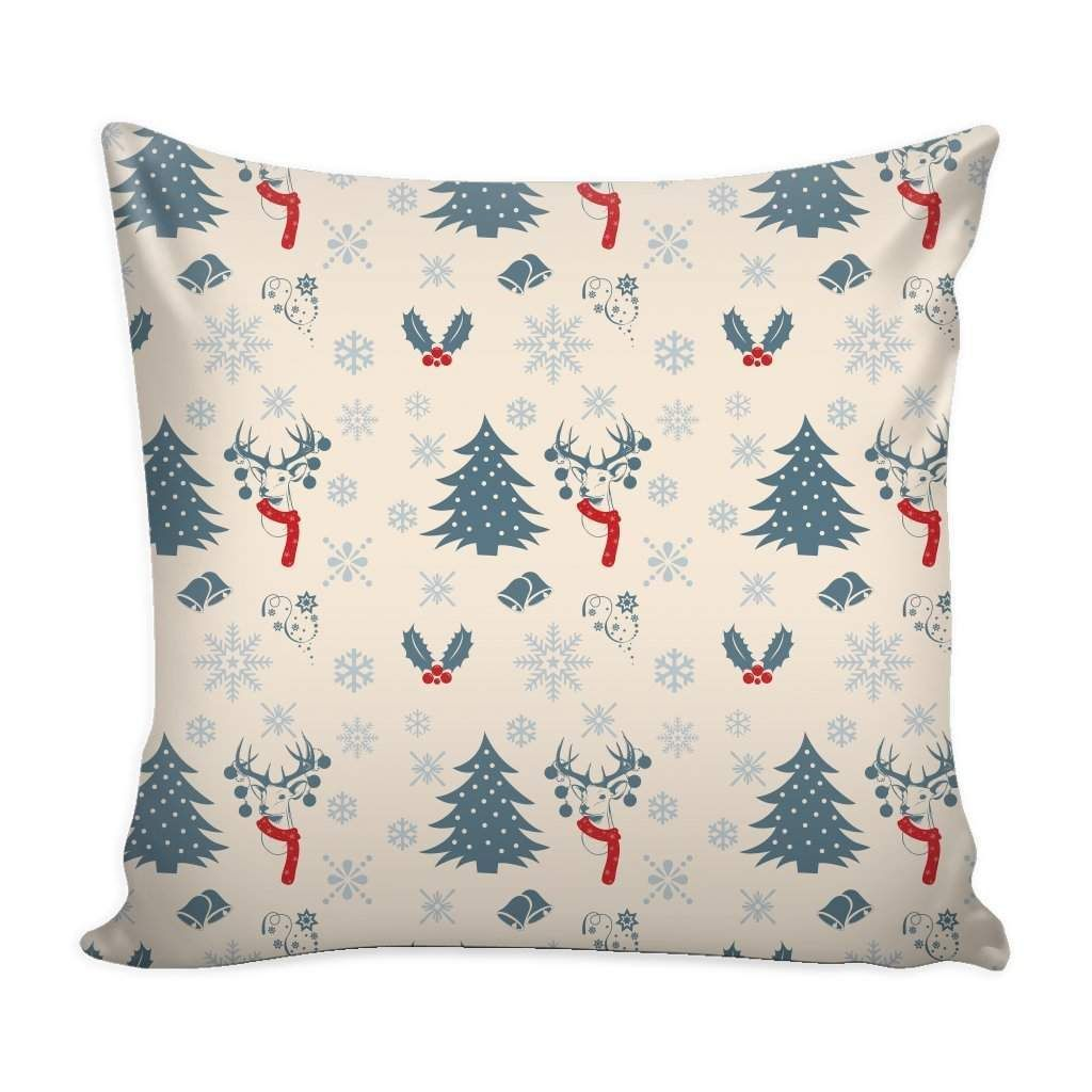 Photo of Christmas Vintage Pattern Throw Pillow Case with White Back