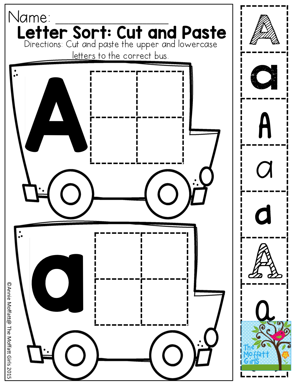 Cut and Paste: Letter recognition with different fonts | Pre k ...