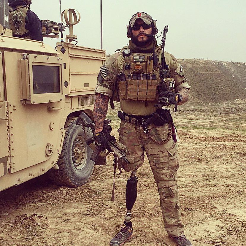 One legged U.S Army Special Forces soldier in Afghanistan [829 x 829]