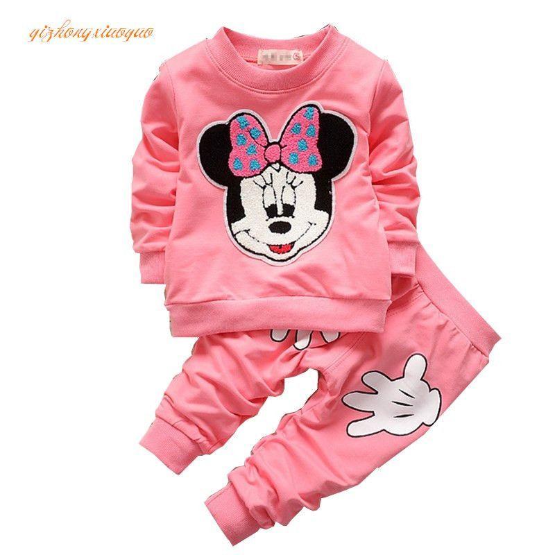 f727258a68a3 2pcs set Cotton Spring Autumn Baby Boy Girl Clothing Sets Newborn ...