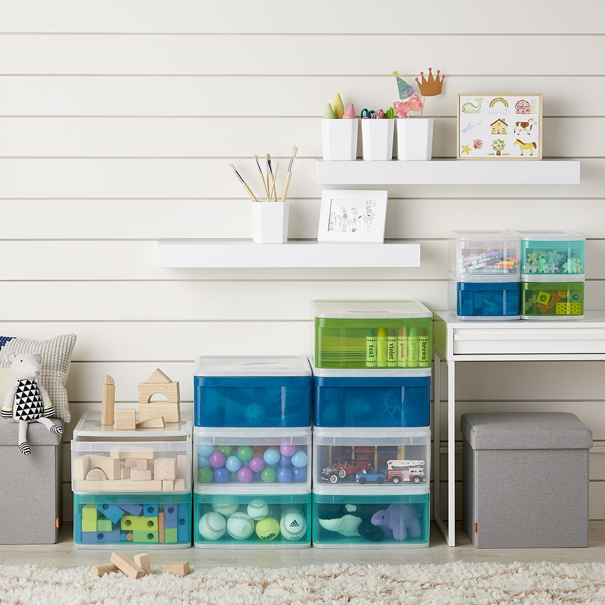 Toy Organization Stacking Colorful Plastic Drawers Are A Great Way For Your Kids To Organize Th Dorm Room Organization Diy Room Storage Diy Stackable Storage