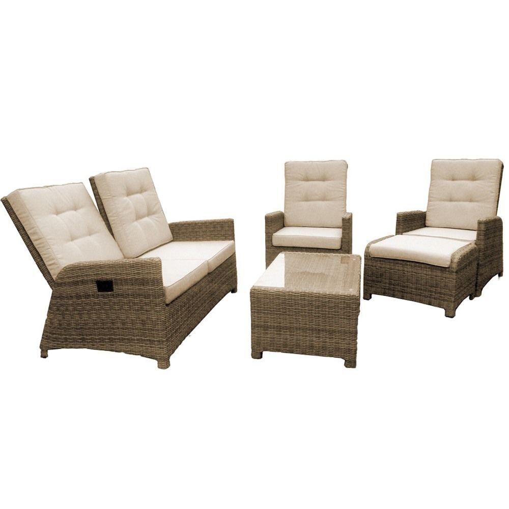Maze Rattan Winchester 4 Seat Reclining Garden Sofa Set