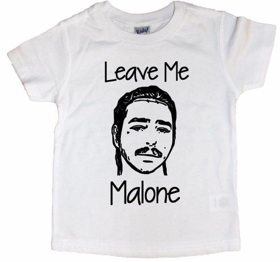 Post Malone Clean: Adult Leave Me Malone Tee// Post Malone