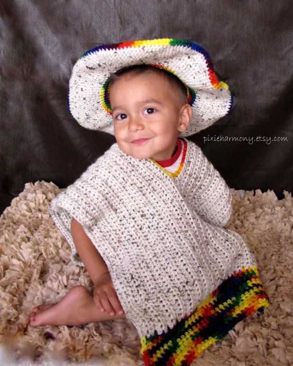 TODDLER Sombrero and Poncho 1218 months Photo by pixieharmony  7b5259be584
