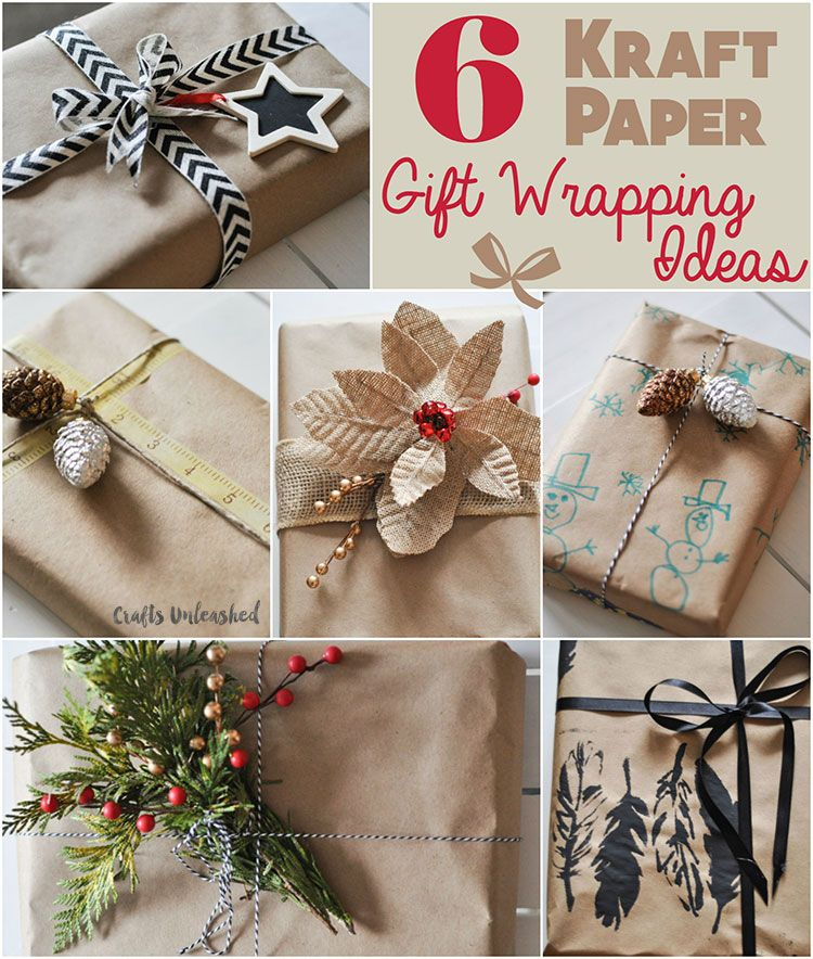 Gift Wrapping Ideas 6 Ways To Use Kraft Paper Gift Wrapping Simple Gift Wrapping Wrapping Gift Cards