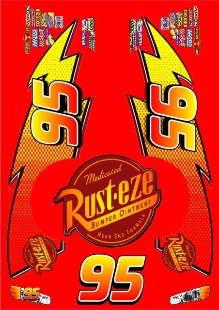 Lightning Mcqueen Rust Eze Logo : lightning, mcqueen, Decals, Lightning, McQueen, Movie, Mcqueen, Cake,, Lighting