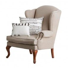 french linen wingback armchair my future house 3 pinterest