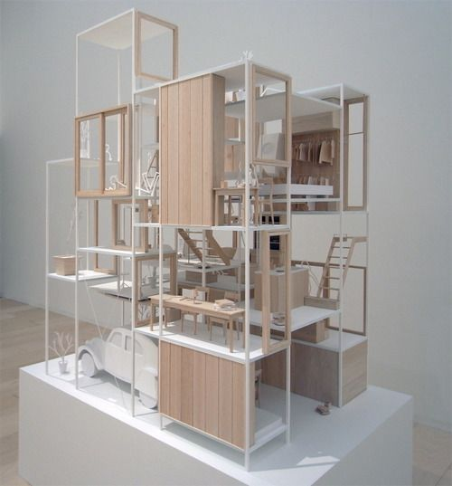 house na by sou fujimoto architects tokyo japan models pinterest maquettes design. Black Bedroom Furniture Sets. Home Design Ideas