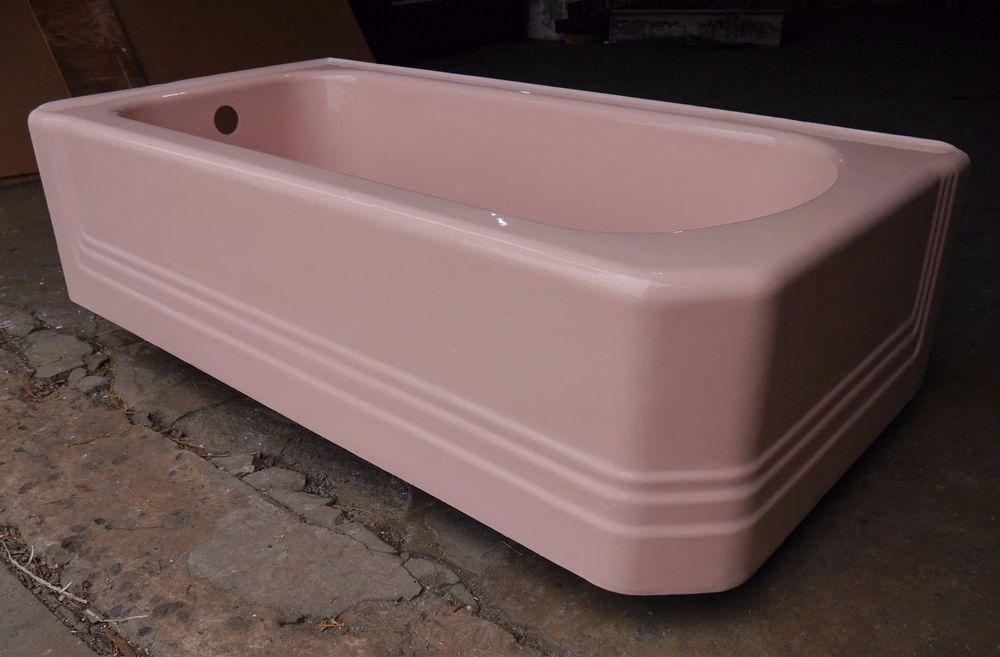 Antique Vintage American Standard Pembroke Pink Corner 60\