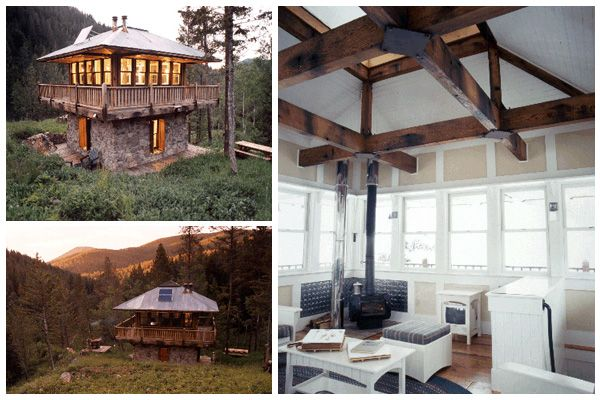 Old Forest Fire Spotting Towers, Now Obsolete In The Era Of Aerial  Observation, Are Being Repurposed As Rustic Camp Style Guest Houses And As  Homes
