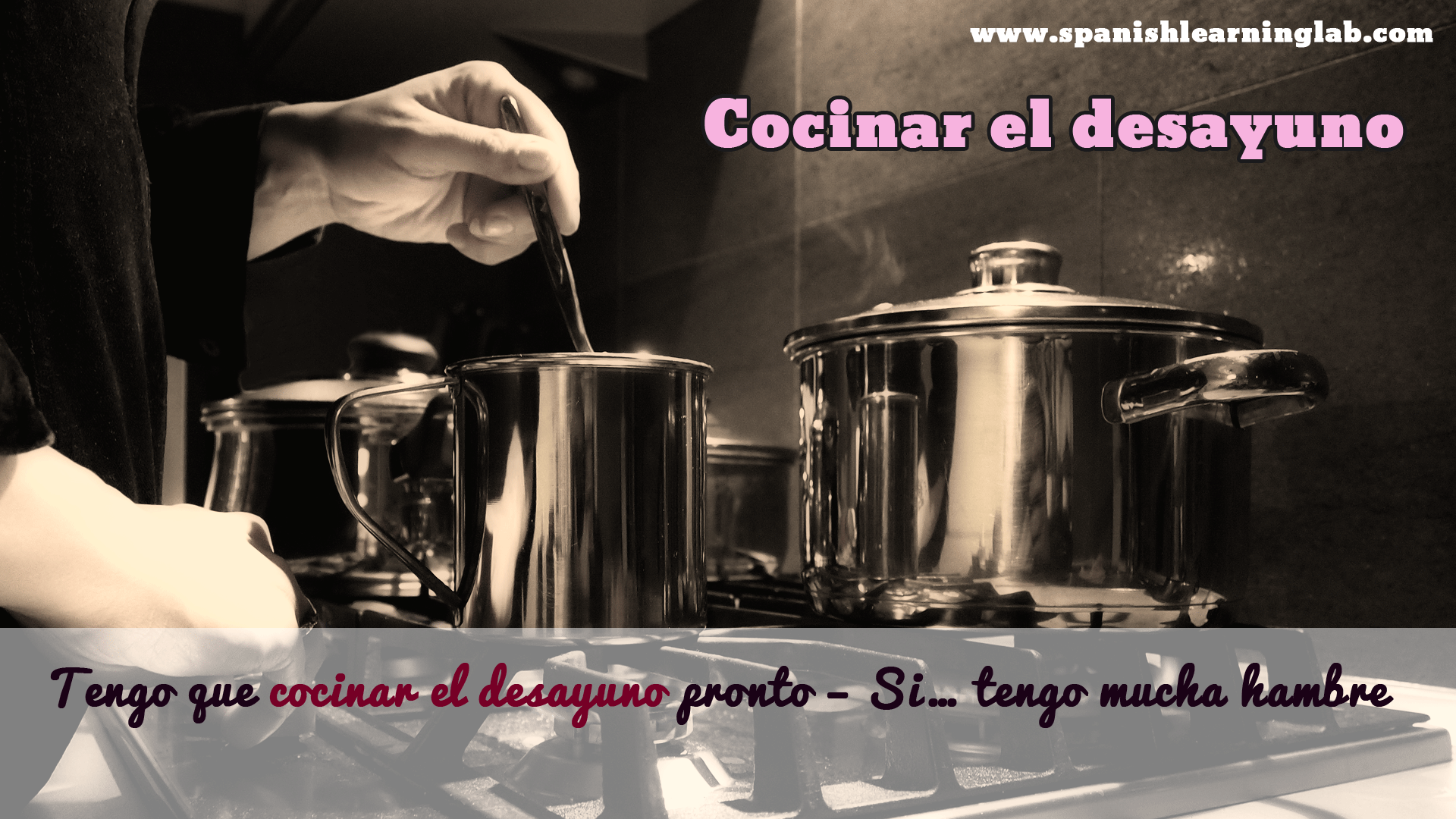 Verbo Cocinar Tener Que Quot Is Used To Say What Our Obligations Are As In