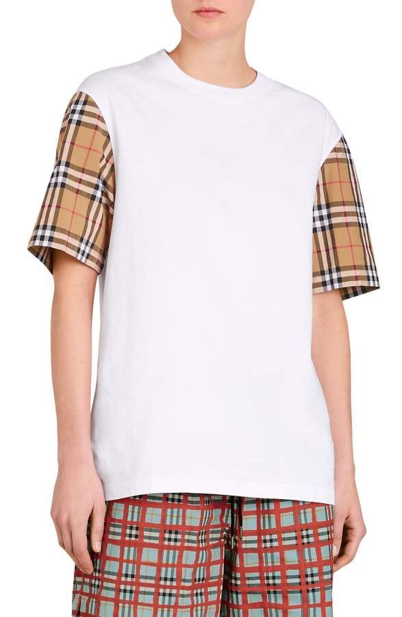 d793c6a53 Burberry Serra Vintage Check Sleeve Tee in 2019 | Products | Tees ...