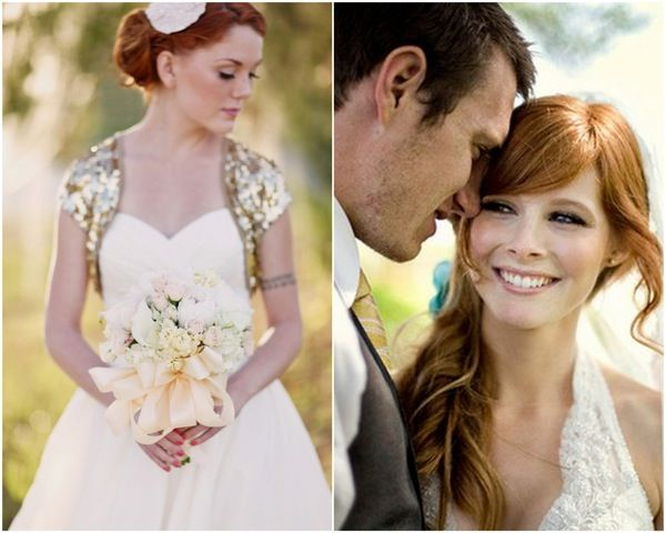 Brides With Red Hair Rock Wedding Hairstyle Inspiration