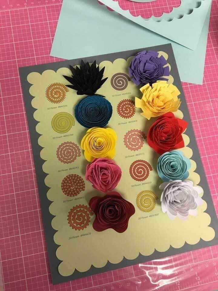 Pin By Jessica Busco On Cricut Maker Rolled Paper Flowers