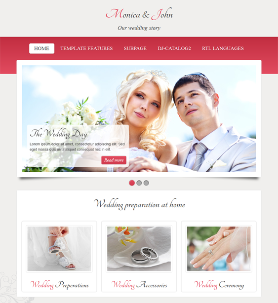 This wedding joomla theme features a responsive layout demo content this wedding joomla theme features a responsive layout demo content css3 animation effects google web fonts bootstrap integration an image slider maxwellsz