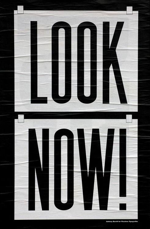 anthonyburrill:  One of a set of three posters designed for... #design #typograhpy