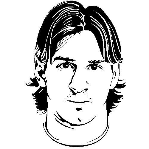 Coloring Page Soccer Lionel Messi 1 Lionel Messi Messi Vector Portrait