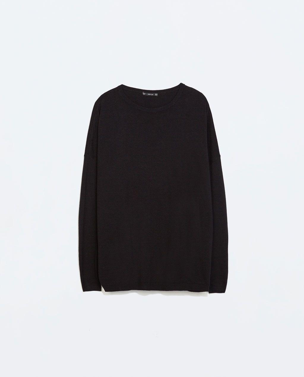 Oversized Trui.Zara Dames Oversized Trui Met Boothals Wannahaves Sweaters
