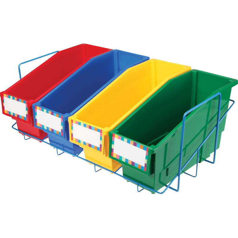 Durable Book And Binder Holders With Stabilizer Wing