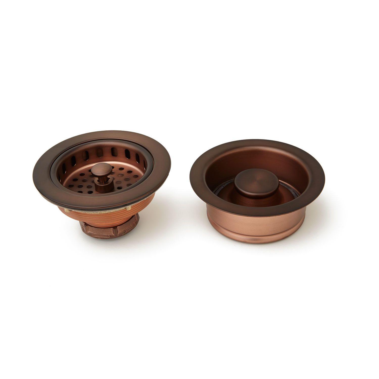 Kitchen Sink Drain Set Basket Strainer & Disposer Flange and