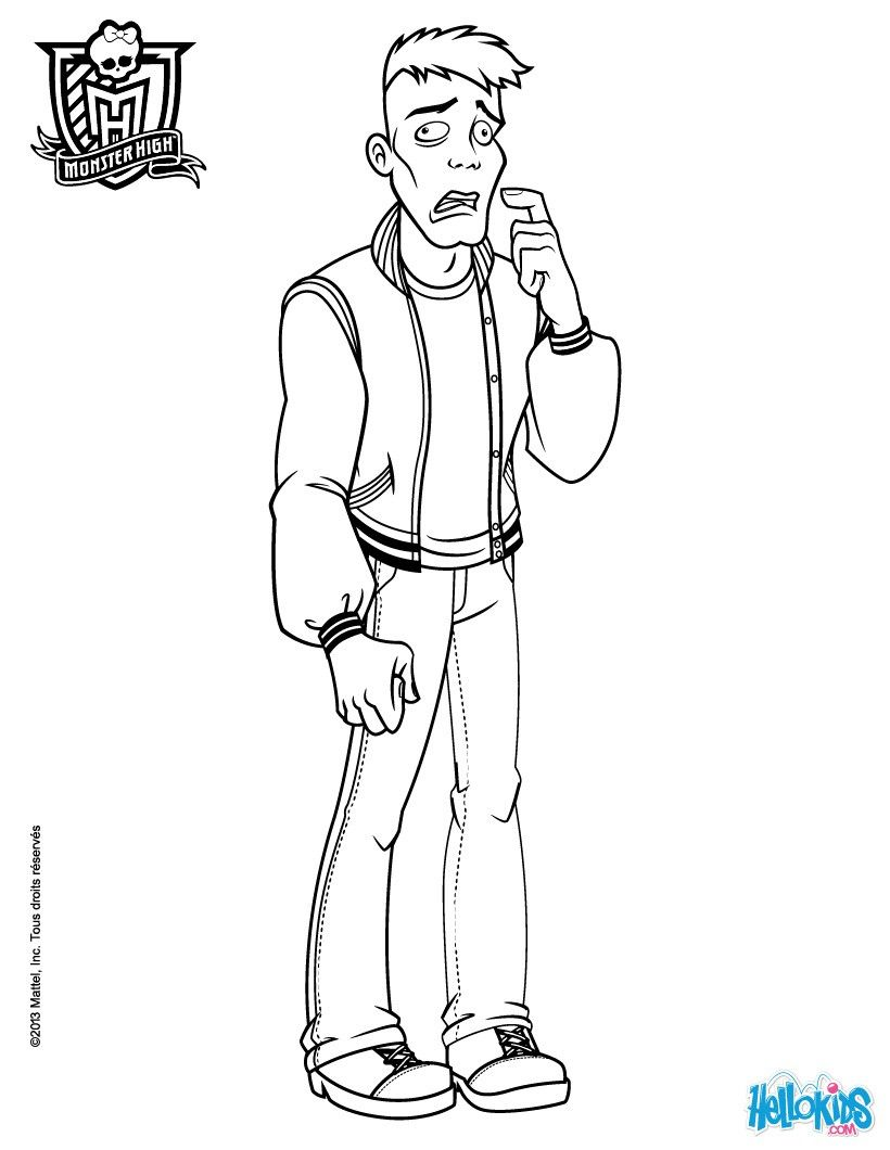 color online monster high moe slow moe deadovitch coloring pages